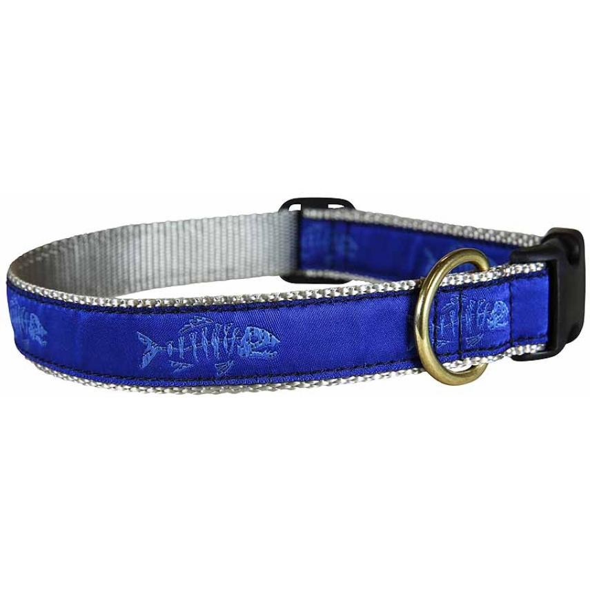 Rogue fish dog collar ocean blue 1 inch for Fish dog collar