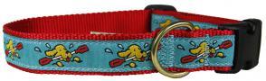 Doggie Paddle - 1-inch Ribbon Dog Collar