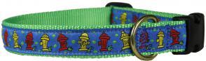 Fire Hydrant - 1-inch Ribbon Dog Collar