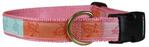 Sea Turtles - 1-inch Ribbon Dog Collar