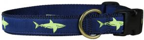Shark - 1-inch Ribbon Dog Collar