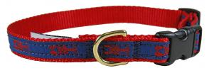 Lobster (Blue & Red) - 5/8-inch Ribbon Dog Collar