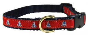 One Design (Red) - 5/8-inch Ribbon Dog Collar