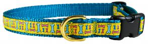 Bones - 5/8-inch Ribbon Dog Collar