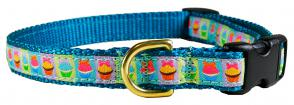 Cupcakes - 5/8-inch Ribbon Dog Collar