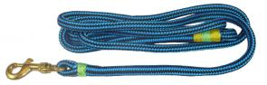 Nautical Rope Dog Leash - Blue / Black