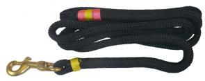 Nautical Rope Dog Leash - Black