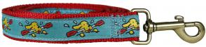 Doggie Paddle - 1-inch Ribbon Dog Leash