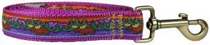 Moose I (Purple) - 1-inch Ribbon Dog Leash