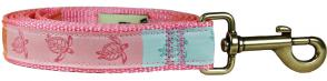 Sea Turtles - 1-inch Ribbon Dog Leash