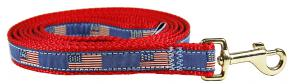 Historic American Flags - 5/8-inch Ribbon Dog Leash