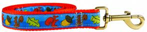 Squirrels - 1-inch Ribbon Dog Leash