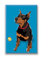 Doberman (With Ball)