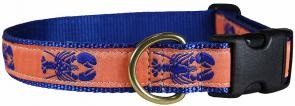 Lobster (Mango) - 1-inch Ribbon Dog Collar