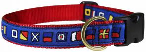 Nautical Flags - 1-inch Ribbon Dog Collar