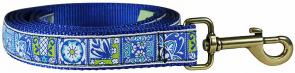 Damariscotta Tiles - 1-inch Ribbon Dog Leash
