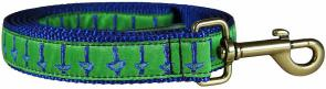 Hadlock (Blue Over You) - 1-inch Ribbon Dog Leash