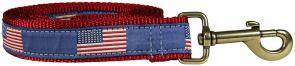 Historic American Flags - 1-inch Ribbon Dog Leash