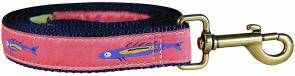 Hopkins Fish (Coral) - 1-inch Ribbon Dog Leash