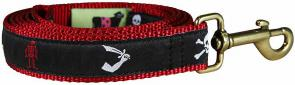 Pirate (Black) - Ribbon Dog Leash