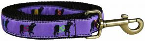 Beltie Cow (Purple) - 1-inch Ribbon Dog Leash