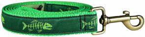 Rogue Fish (Lime Green) - 1-inch Ribbon Dog Leash