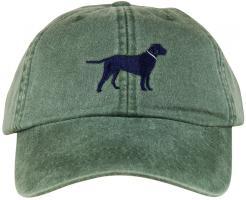 Baseball Hat - Dark Blue Lab on Spruce