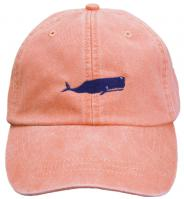 Baseball Hat - Dark Blue Whale on Coral