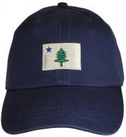 Baseball Hat - Maine Flag on Navy Blue
