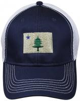 Baseball Hat - Maine Flag on Blue Trucker Hat
