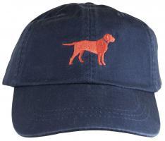 Baseball Hat - Orange Lab on Blue