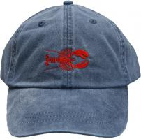 Baseball Hat - Red Lobster on Washed Navy Blue