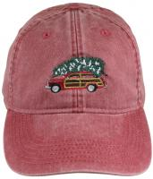 Baseball Hat - Woodie and Tree on Poppy