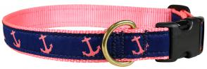 Anchor (Pink & Blue) - Ribbon Dog Collar