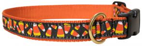 Candy Corn - 1-inch Ribbon Dog Collar