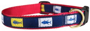 Fish Flags - Ribbon Dog Collar