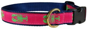 Lobster (Lime & Raspberry) - Ribbon Dog Collar