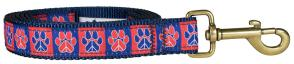 Peace Paws – Blue & Red – 1-inch Ribbon Dog Leash