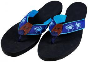 Flip-Flops - Crabs (Blue)