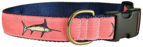 Bill Fish (Coral) - 1.25-inch Ribbon Dog Collar