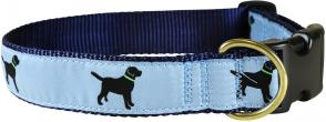 Labs (Dusty Blue) - 1.25-inch Ribbon Dog Collar