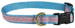 Geometric Flowers - 5/8-inch Ribbon Dog Collar
