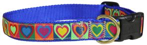 Hearts - 1-inch Ribbon Dog Collar
