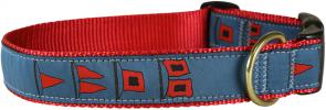 Hurricane Flags - 1.25-inch Ribbon Dog Collar