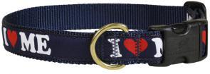 I LOVE MAINE - 1-inch Ribbon Dog Collar