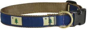 Maine State Flag - Ribbon Dog Collar