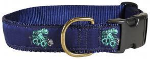 Octopus - 1.25-inch Ribbon Dog Collar
