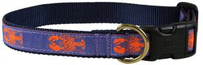 Lobster (Periwinkle) - 1-inch Ribbon Dog Collar