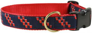 Red Cup Stripe - 1.25-inch Ribbon Dog Collar