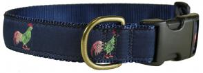Rooster in Hi Tops - 1.25-inch Ribbon Dog Collar